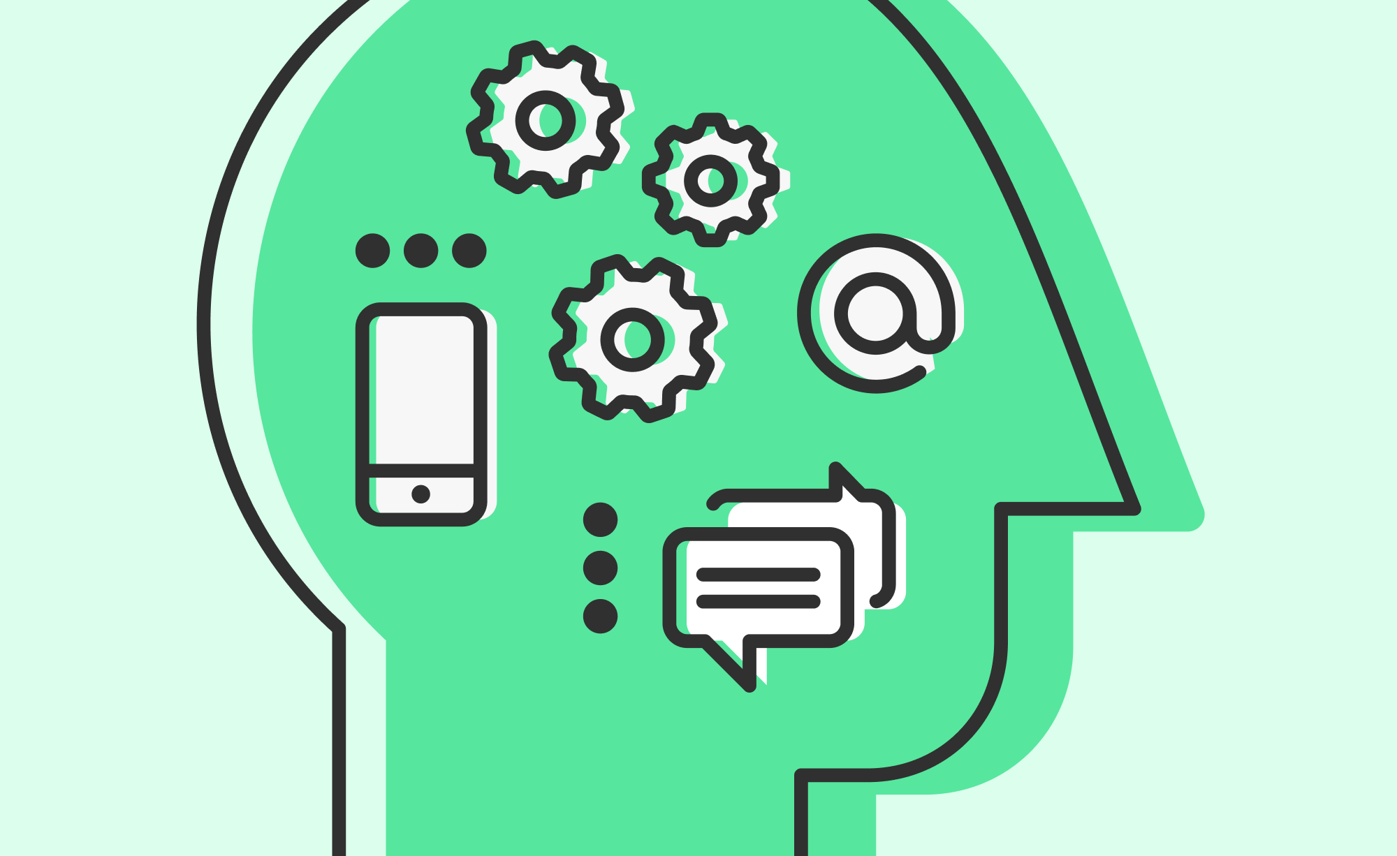 An illustration to represent the importance of technology to mental health strategies