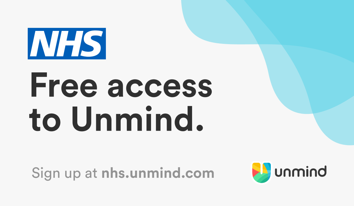 NHS staff sign up to get free access to Unmind at nhs.unmind.com