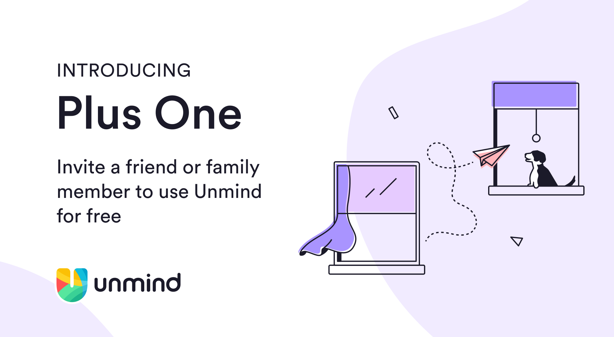 An illustration introducing the new Unmind Plus One feature.